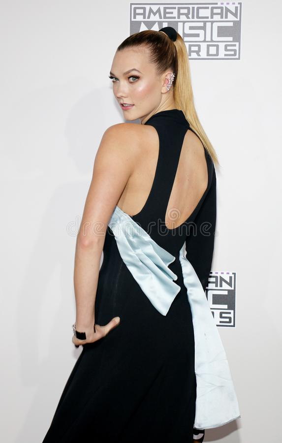 Karlie Kloss. At the 2016 American Music Awards held at the Microsoft Theater in Los Angeles, USA on November 20, 2016 stock image