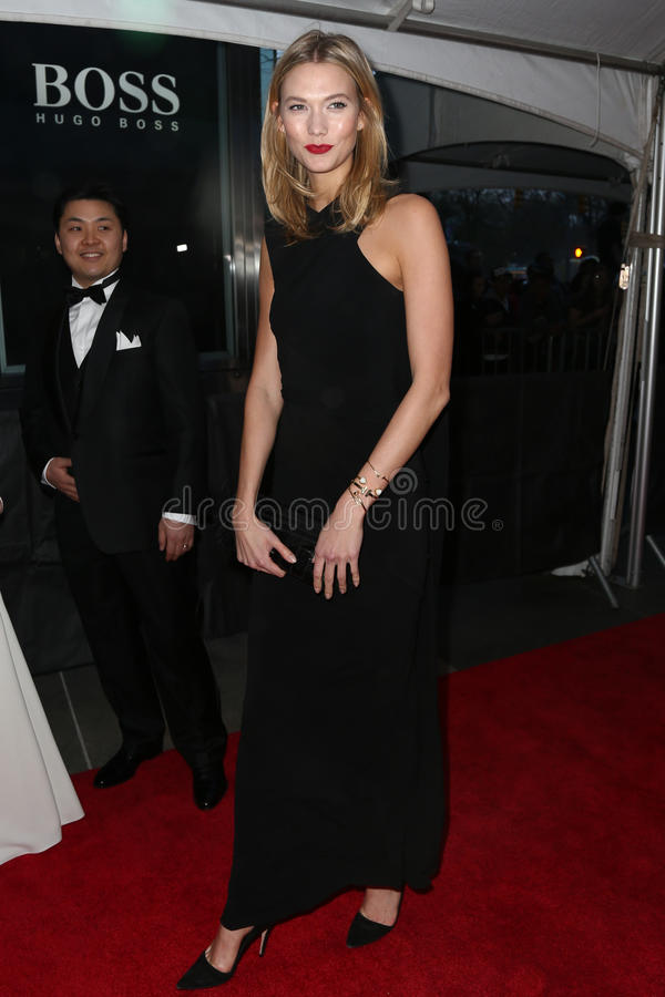 Karlie Kloss. NEW YORK-APR 21: Model Karlie Kloss attends the 2015 Time 100 Gala at Frederick P. Rose Hall, Jazz at Lincoln Center on April 21, 2015 in New York stock image