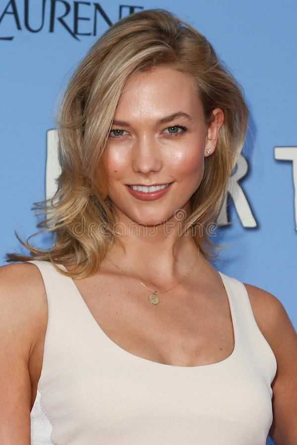 Karlie Kloss. NEW YORK-JUL 21: Model Karlie Kloss attends the Paper Towns premiere at AMC Loews Lincoln Square on July 21, 2015 in New York City stock image