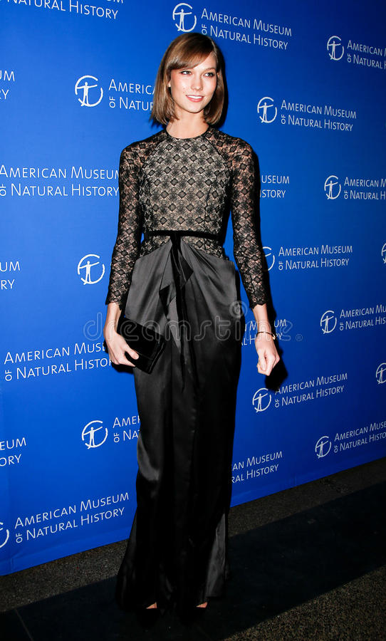 Karlie Kloss. NEW YORK-NOV 21; Model Karlie Kloss attends the American Museum of Natural History's 2013 Museum Gala at American Museum of Natural History on stock photography