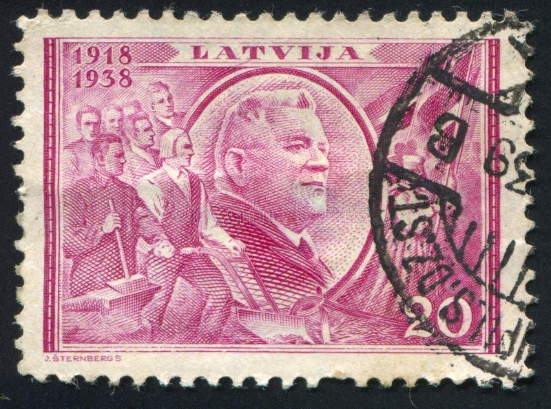 Karlis乌尔马尼斯总统 免版税库存图片