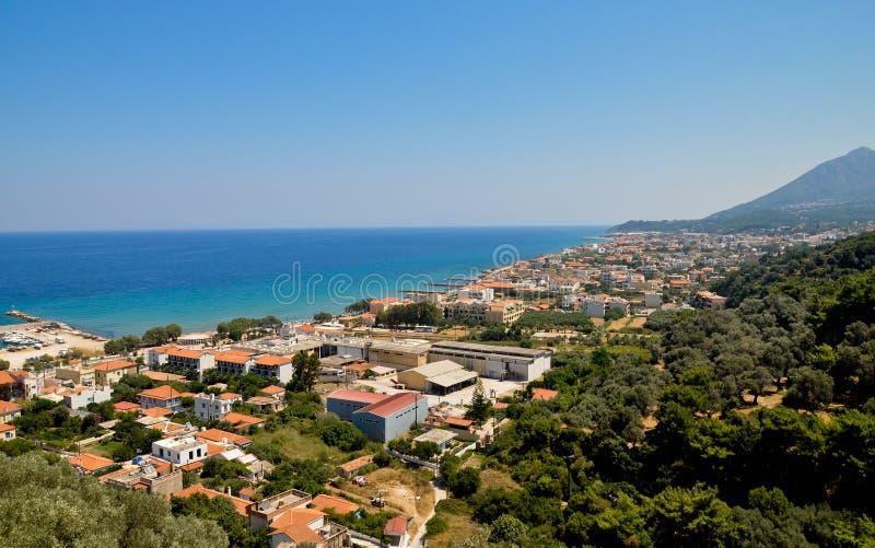 Karlovasi-Stadtpanorama, Samos, Griechenland lizenzfreie stockfotografie