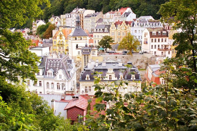 karlovy的城市变化视图 库存照片