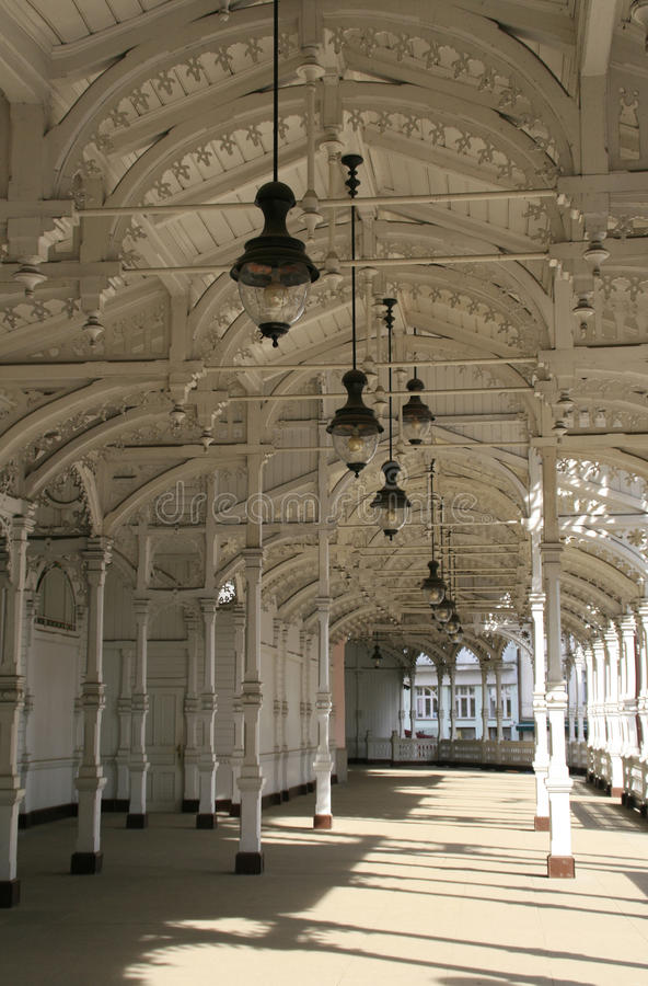karlovy的柱廊变化 免版税图库摄影