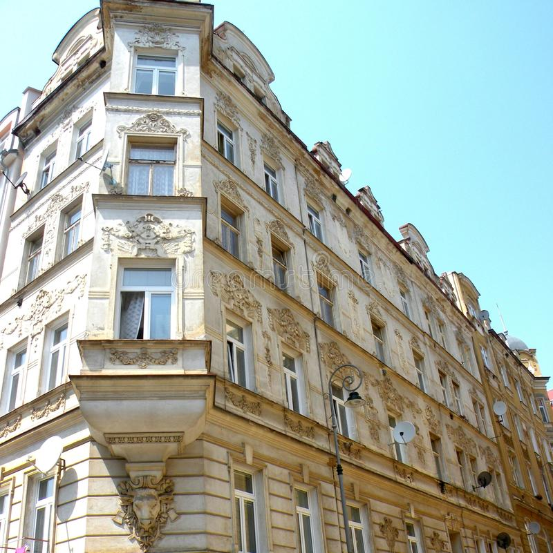 Karlovy меняет, чехия, популярное туристское назначение, особенно известное для международных знаменитостей посещая для обслужива стоковая фотография