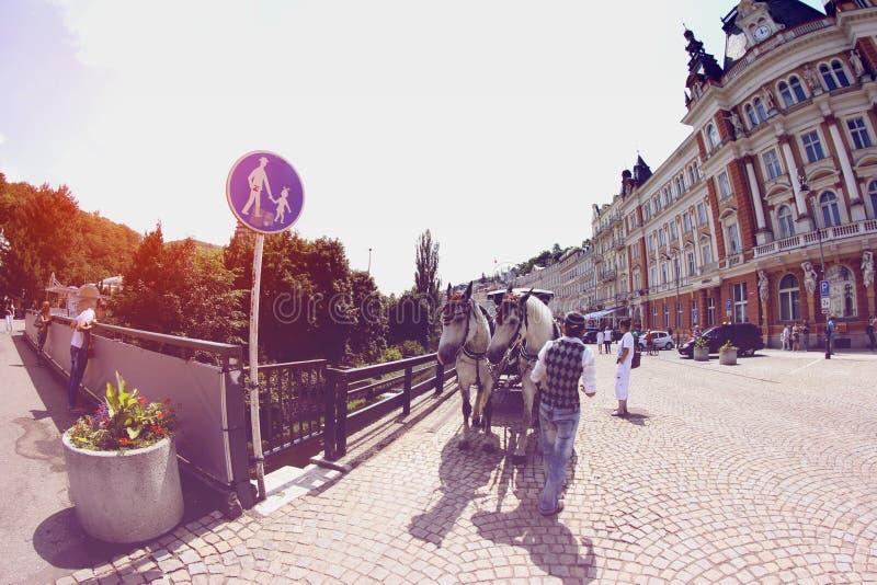 karlovy поменяйте стоковая фотография