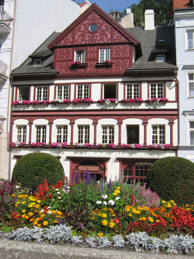 Karlovy ha variato la vista. immagine stock libera da diritti