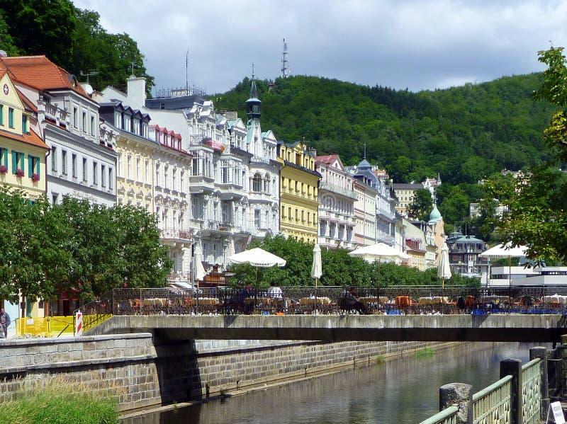 Karlovy histórico varia, República Checa imagem de stock