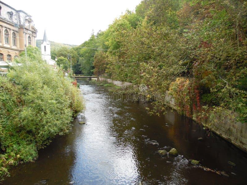 Karlovy var?a Es una ciudad del balneario situada en Bohemia occidental foto de archivo libre de regalías