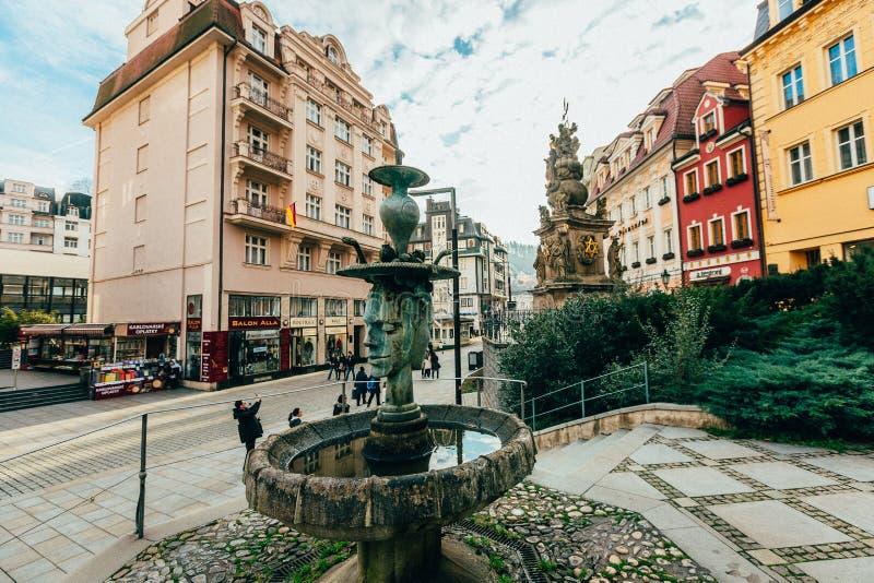 Karlovy variërt Karlsbad Tsjechische Republiek stock fotografie