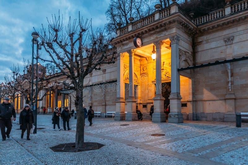 Karlovy variërt Karlsbad Tsjechische Republiek royalty-vrije stock afbeeldingen