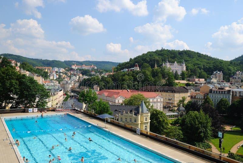 Karlovy vari?ërt stock afbeelding