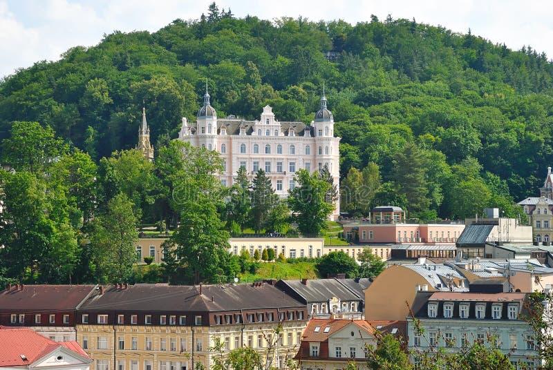 Karlovy vari?ërt, Tsjechische republiek stock afbeeldingen