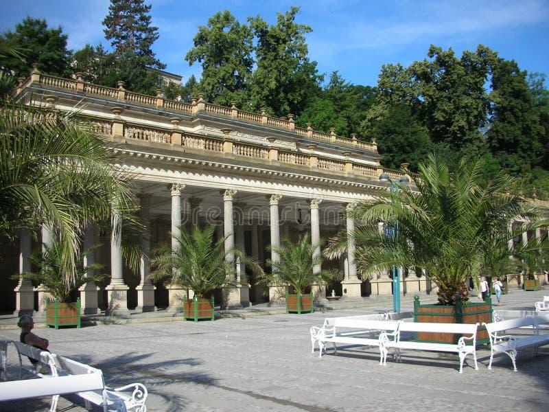 Karlovy varia, kolonada di Mlynska immagine stock