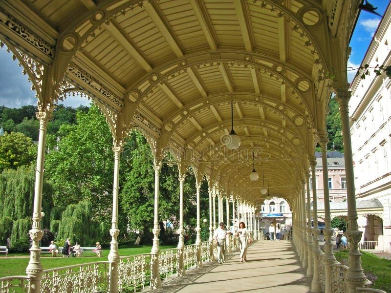 Karlovy varia, Sadova Kolonada fotografie stock
