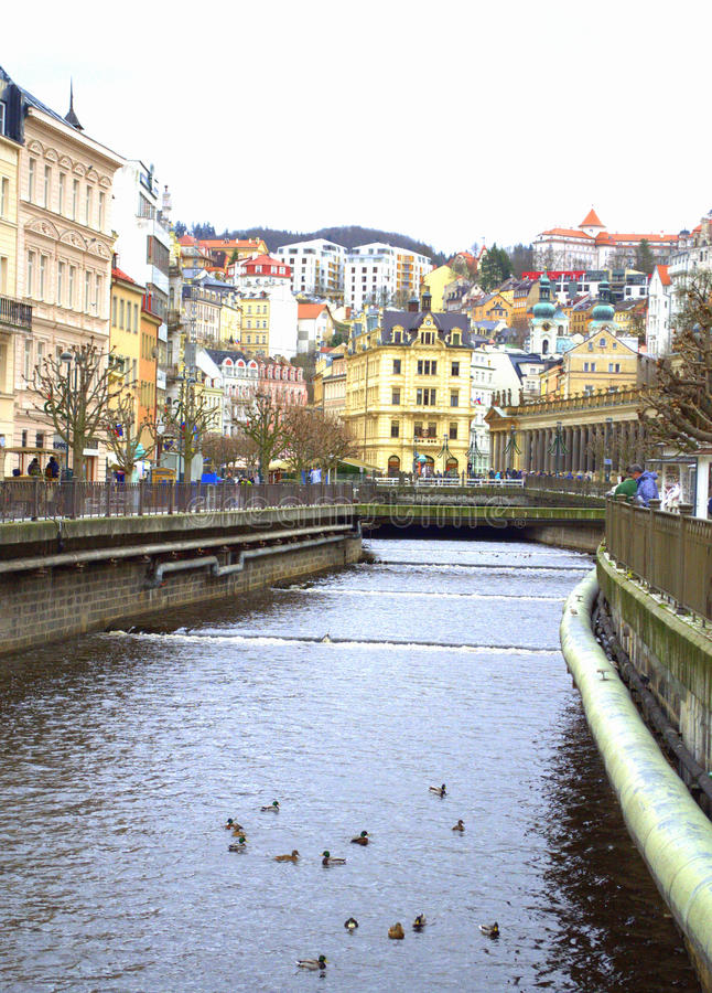 Karlovy varia a vista foto de stock royalty free