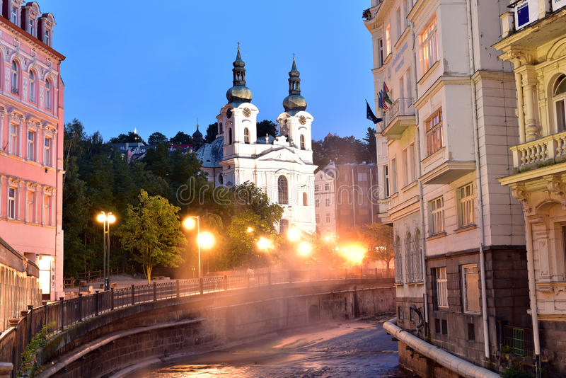 Karlovy varieert, West-Bohemen royalty-vrije stock foto's