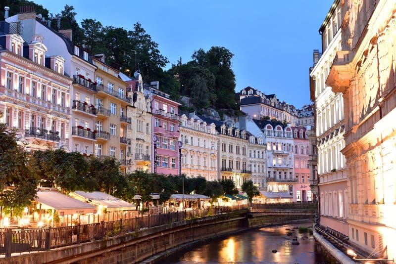 Karlovy varieert, West-Bohemen stock afbeeldingen