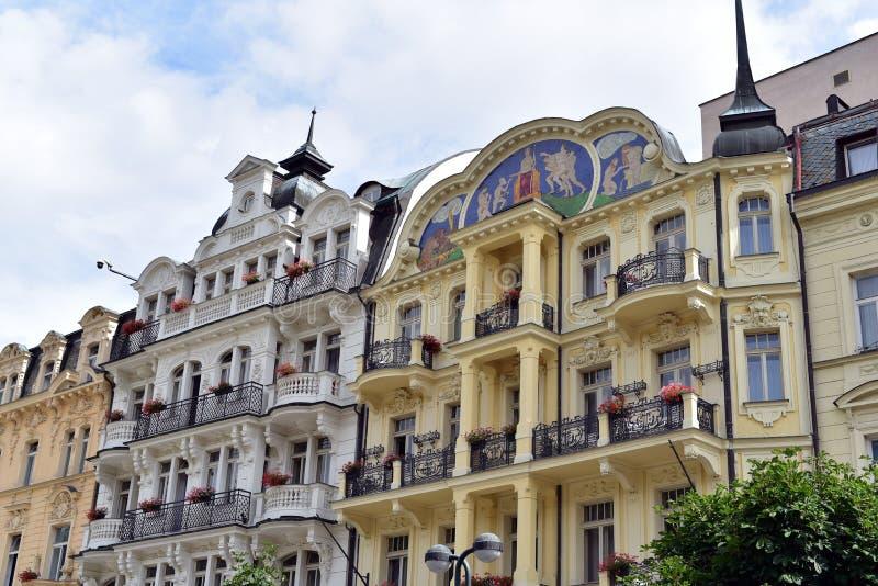 Karlovy varieert, West-Bohemen stock foto's