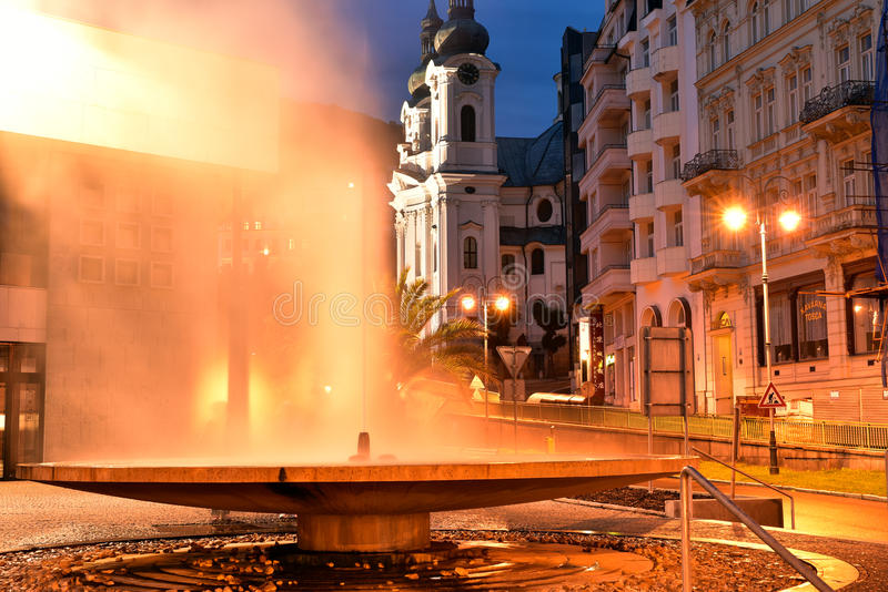 Karlovy varieert, West-Bohemen stock fotografie