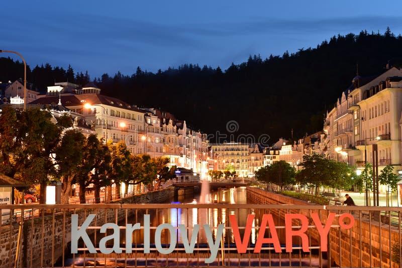 Karlovy varieert, West-Bohemen royalty-vrije stock foto