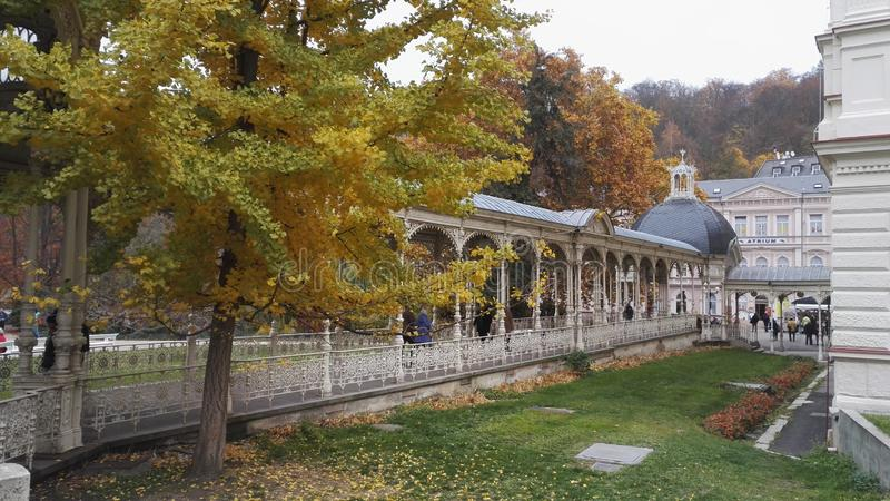 Karlovy Vary, autumn stock images