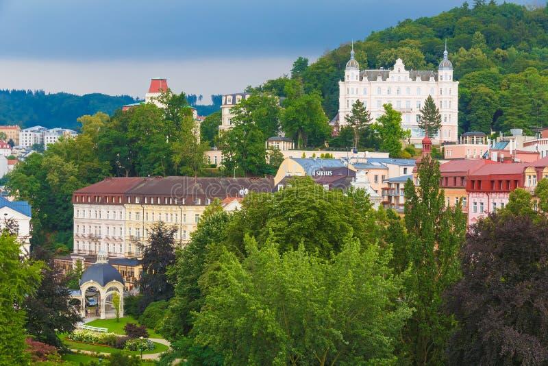 Karlovy Vary, Carlsbad spa town, Czech Republic royalty free stock photos