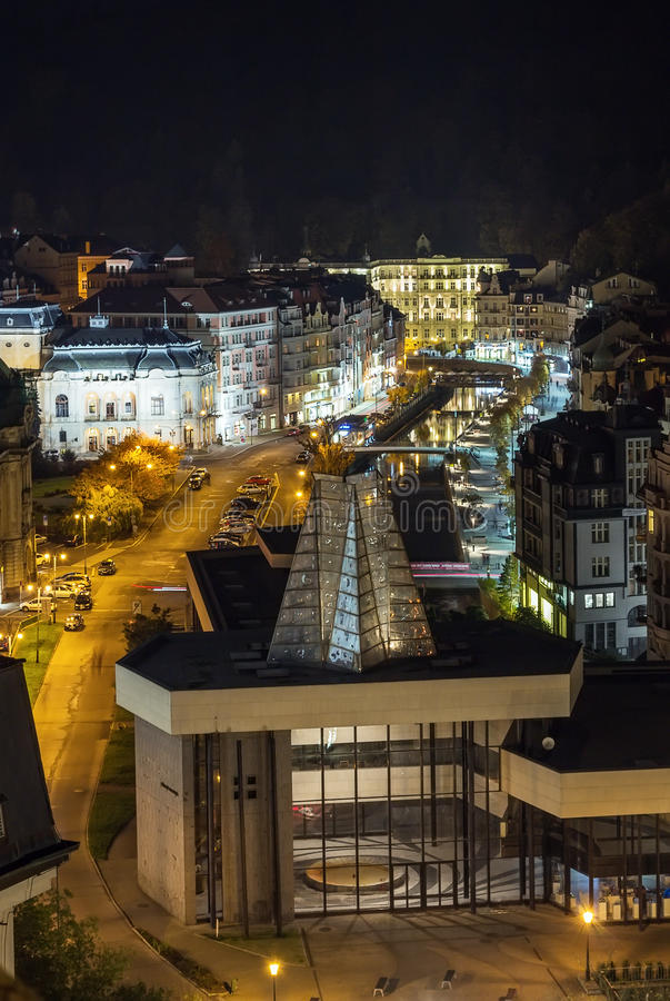 Download Karlovy Vary In Evening Light Stock Image - Image: 37119767