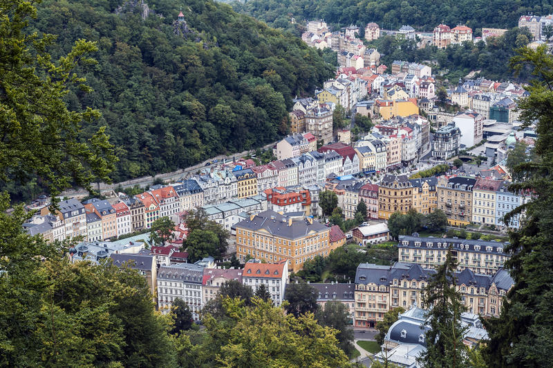 Karlovy Vary. royalty free stock image