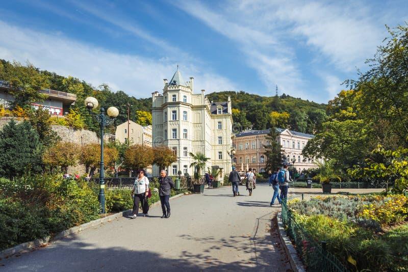 Karlovy Vary ou Carlsbad en Bohême occidentale, République Tchèque image libre de droits