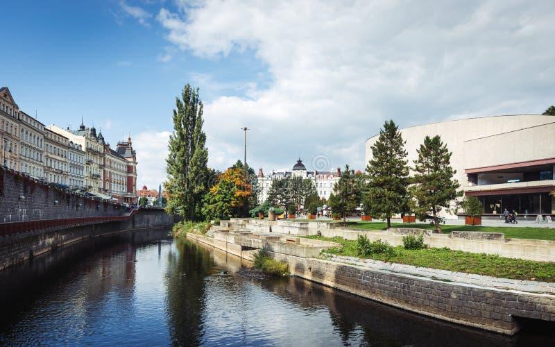 Karlovy Vary ou Carlsbad en Bohême occidentale, République Tchèque image stock