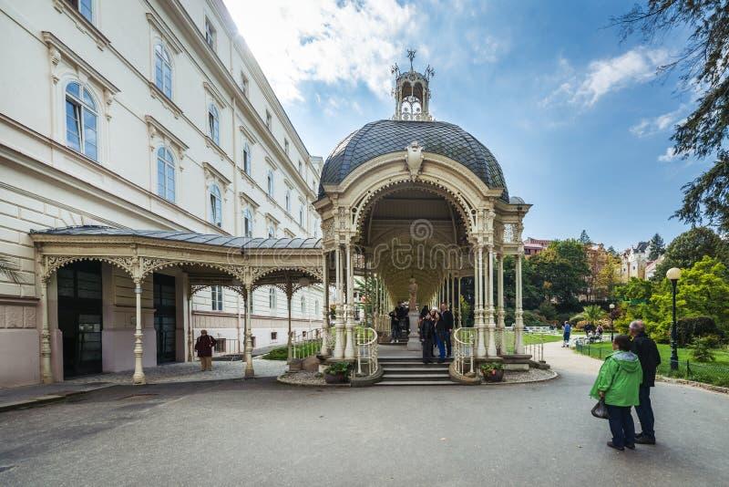 Karlovy Vary ou Carlsbad en Bohême occidentale, République Tchèque photographie stock libre de droits