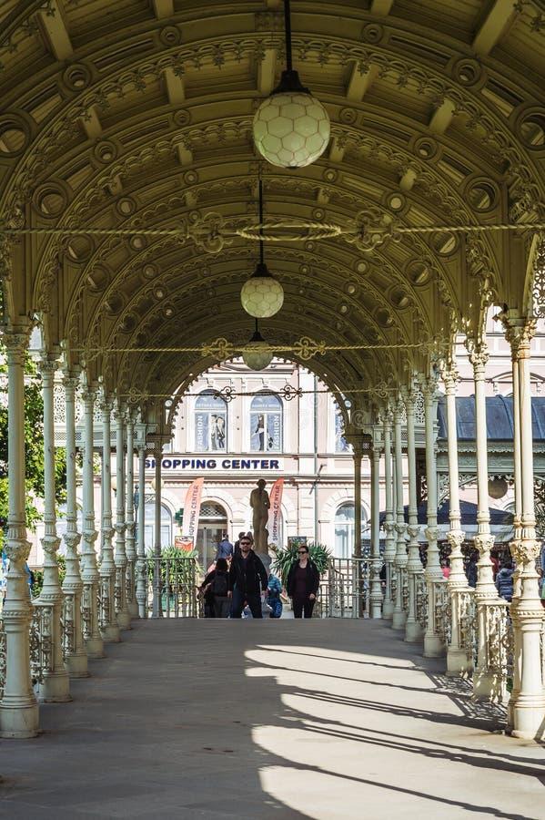 Karlovy Vary ou Carlsbad en Bohême occidentale, République Tchèque photographie stock