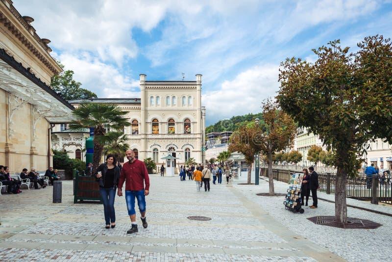 Karlovy Vary ou Carlsbad en Bohême occidentale, République Tchèque images stock