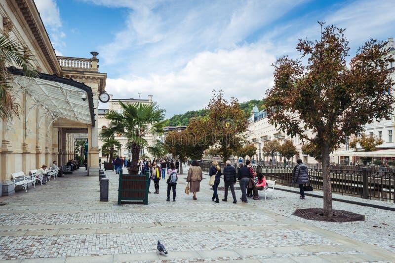 Karlovy Vary ou Carlsbad en Bohême occidentale, République Tchèque photos stock