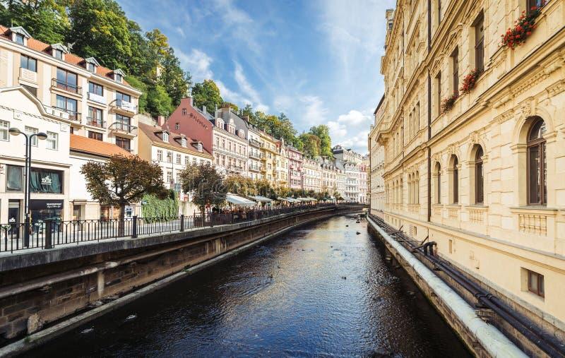 Karlovy Vary ou Carlsbad en Bohême occidentale, République Tchèque photo libre de droits