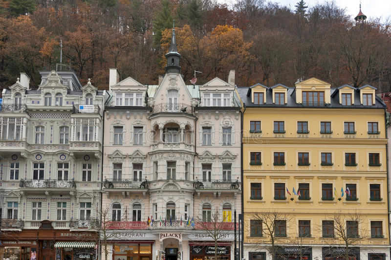 Karlovy Vary residential architecture stock photos