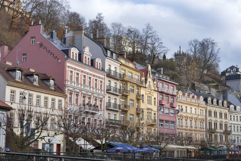 Karlovy Vary residential architecture stock photo