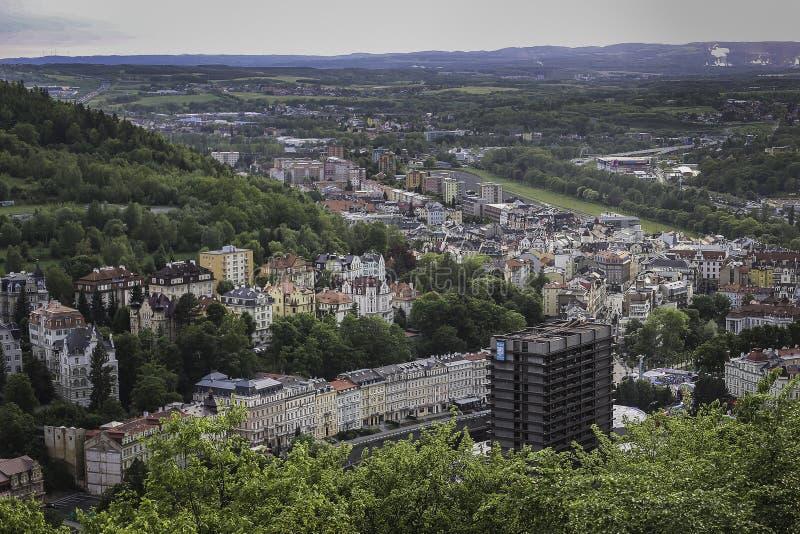 karlovy zmienia Karlsbad cesky krumlov republiki czech miasta średniowieczny stary widok fotografia stock