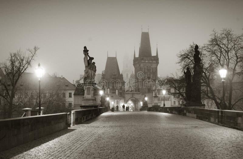 Karls Bridge. Karls (Carls) Bridge in the centre of Prague royalty free stock image