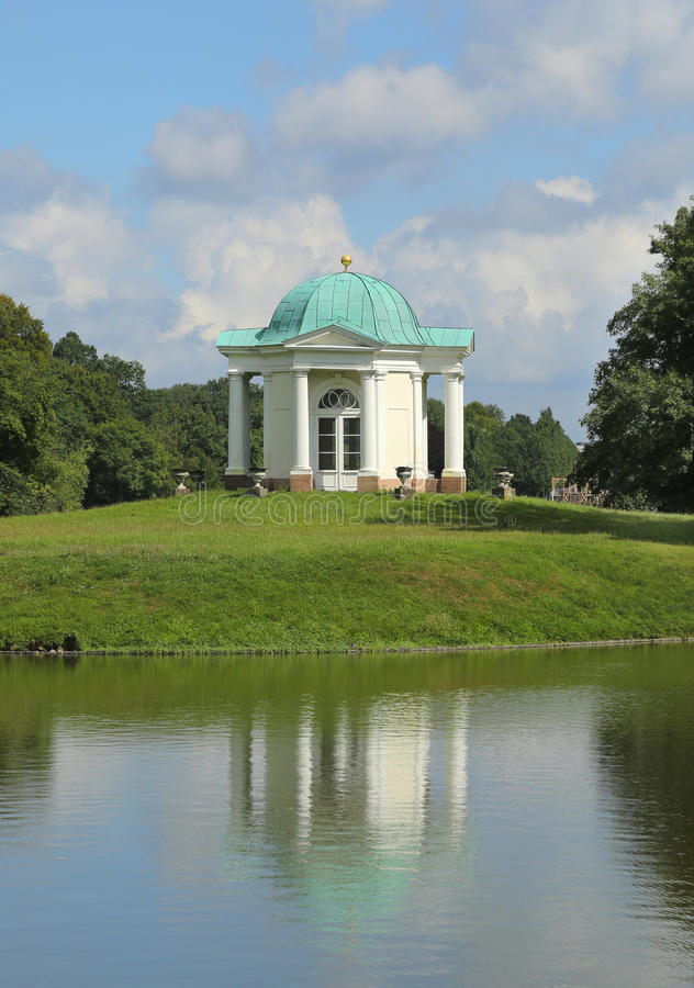 Karlsaue Park - Domed Temple on Swan Island stock image