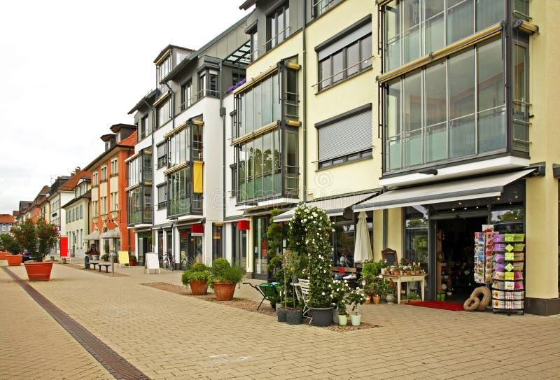 Karlshrasse在腓特烈港镇 德国 免版税图库摄影