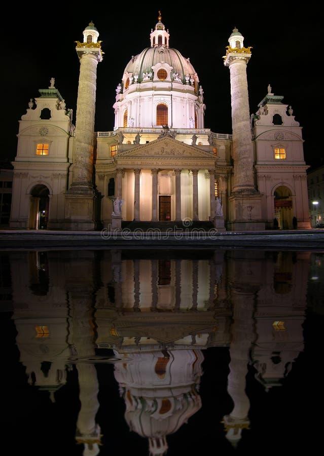 karlskirche维也纳 免版税库存照片