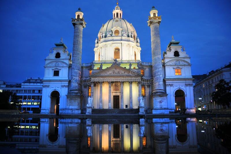 Karlskirche. Historic baroque building in Vienna, Austria stock photography