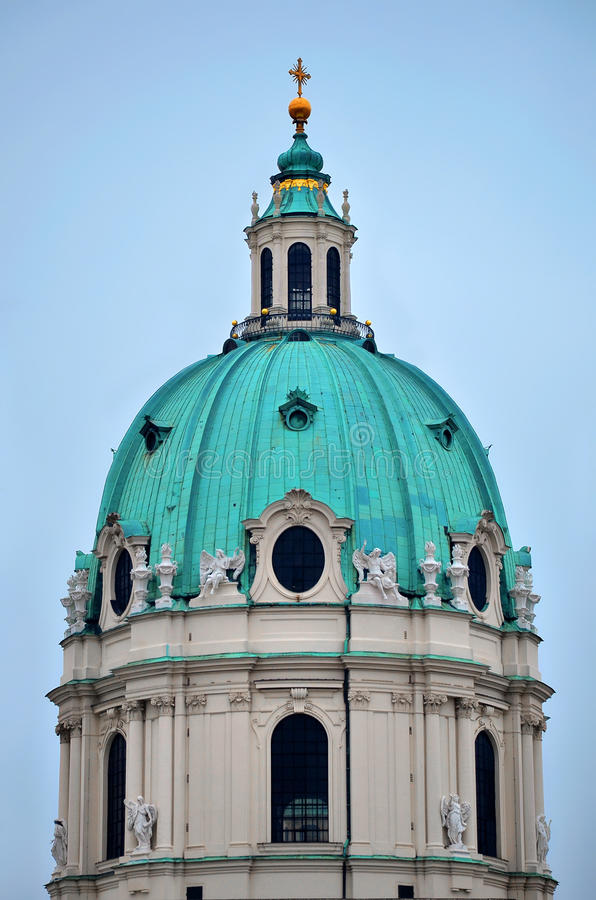 Karlskirche. (German for St. Charles's Church) in Vienna, Austria royalty free stock photography
