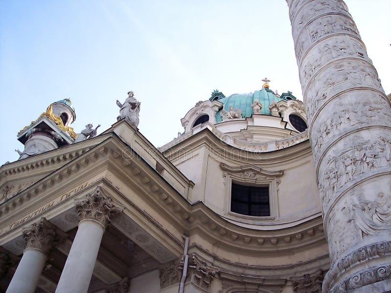 Karlskirche em Viena fotografia de stock