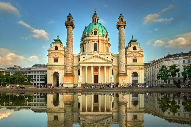 Karlskirche en Viena, Austria La iglesia de St Charles fotografía de archivo