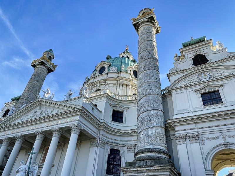 Karlskirche Viena fotografía de archivo libre de regalías