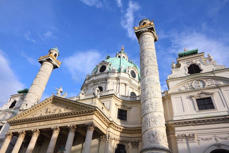 Karlskirche, Vienna. Vienna, Austria - famous Karlskirche (Saint Charles Church royalty free stock images