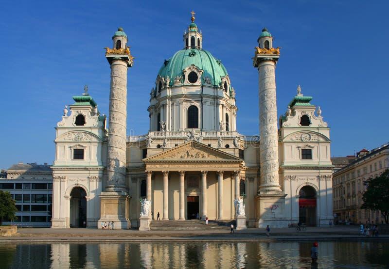 Karlskirche in Vienna, Austria. Karlskirche in Vienna in Austria royalty free stock image